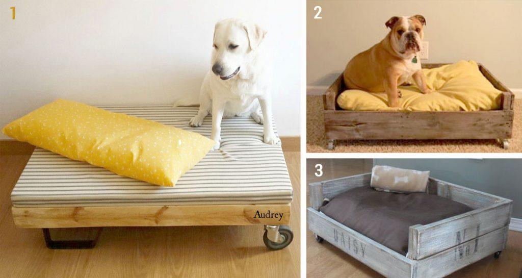 como hacer camas de palets para perros