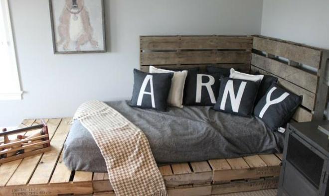 respaldo original cama de palets grande